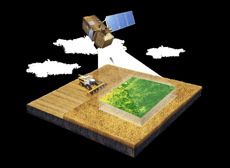 monitoramento por satélite para agricultura de precisão