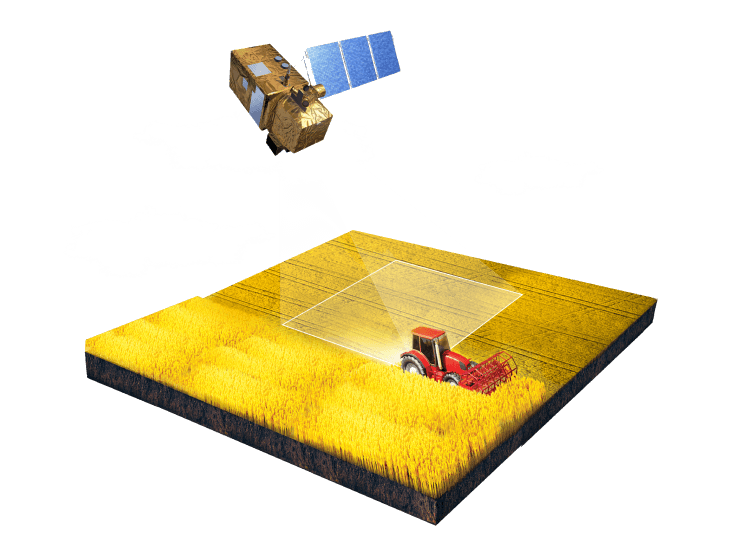 satellite monitoring field